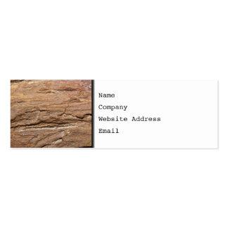 Imagen del fósil de madera plantillas de tarjetas de visita