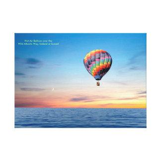 Imagen del globo del aire caliente para la lona lienzo
