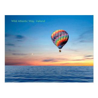 Imagen del globo del aire caliente para la postal