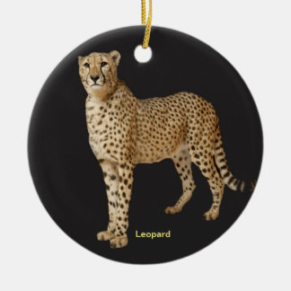 Imagen del leopardo para el ornamento del círculo