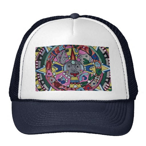 Imagen del paño tejido, diseño mexicano, Cuernavac Gorra