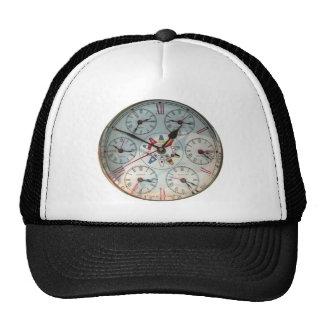 Imagen del reloj mundial para el Camionero-gorra Gorra