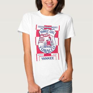 Imagen del tabaco de mascar del chica del yanqui camiseta