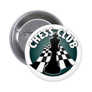 Imagen del tablero de ajedrez del jugador de club chapa redonda de 5 cm