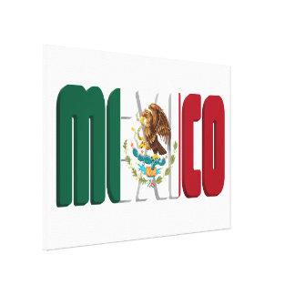 Imagen del texto de la bandera de México Impresión En Lona