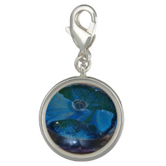 imagen del vidrio joyería-encanto-azul y verde dije