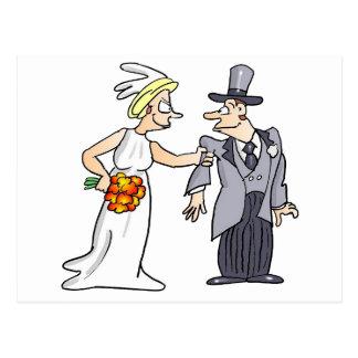 Imagen divertida del boda postal