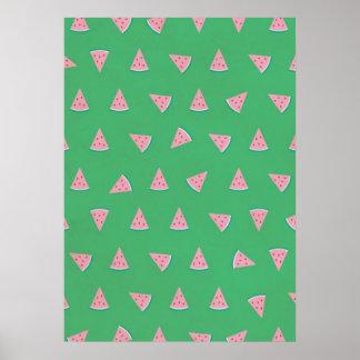 Imagen dulce rosada de la sandía posters