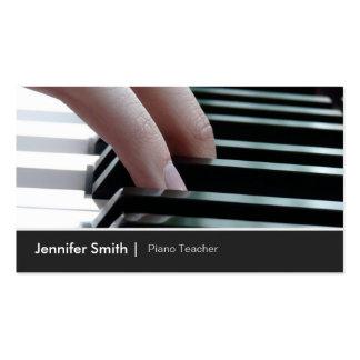 Imagen elegante del teclado de piano para el profe tarjeta de negocio
