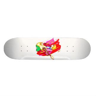 Imagen estilizada del diseño gráfico del bajista d patines