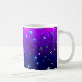 Imagen estrellada de la noche hermosa de la taza de café