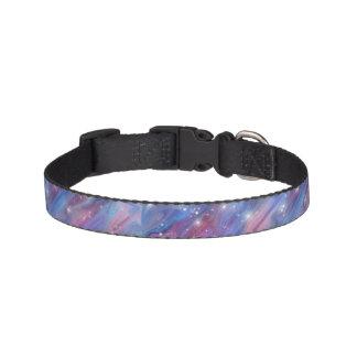 Imagen estrellada del cielo de la noche hermosa collar para mascotas