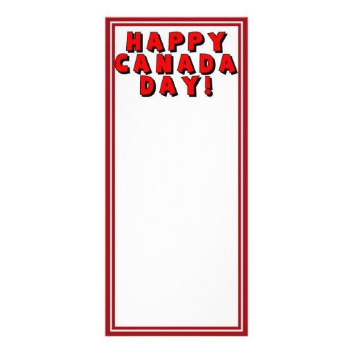 Imagen feliz del texto del día de Canadá Diseños De Tarjetas Publicitarias