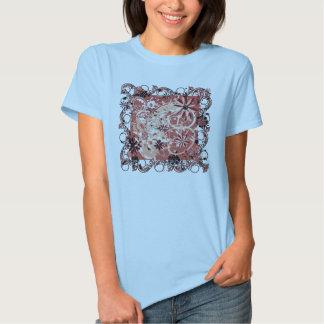 imagen floral del grunge camiseta
