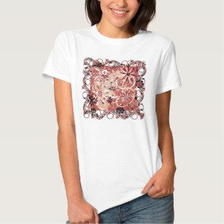 imagen floral del grunge camisetas