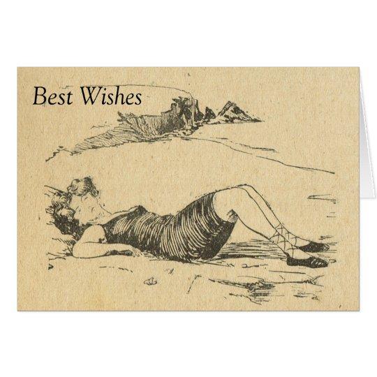 Imagen francesa del vintage de la reproducción, un tarjeta de felicitación