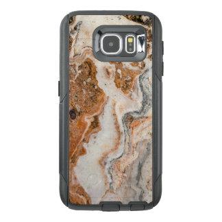 Imagen fresca de Brown y de la piedra de mármol Funda OtterBox Para Samsung Galaxy S6