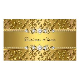 Imagen grabada en relieve damasco con clase elegan tarjetas de visita