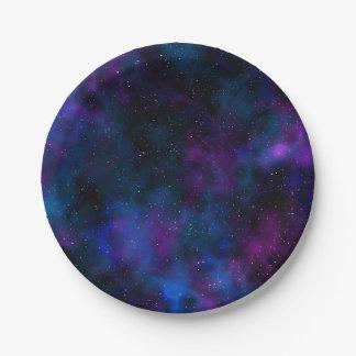 Imagen hermosa de la noche estrellada de la plato de papel