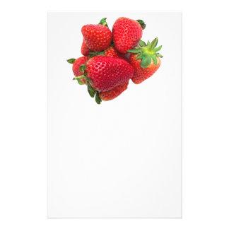 Imagen ideal profunda de las fresas folleto 14 x 21,6 cm