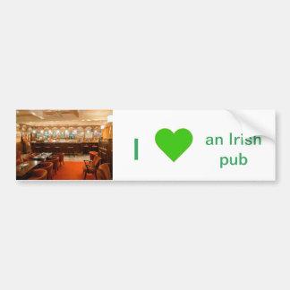 Imagen irlandesa del Pub para la pegatina para el