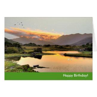 Imagen irlandesa para la tarjeta de felicitación