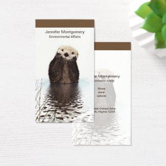 Imagen linda de la fauna de la nutria tarjeta de visita