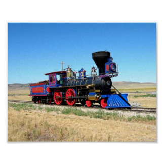 Imagen locomotora fresca de la imagen del tren póster