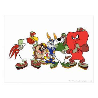 Imagen Looney del béisbol del grupo de los tonos Tarjeta Postal