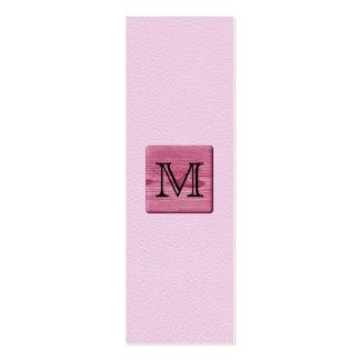 Imagen modelada rosa, con la letra de encargo del  plantillas de tarjeta de negocio