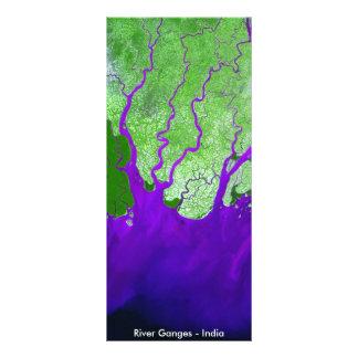 Imagen por satélite del delta del río Ganges - la Tarjetas Publicitarias
