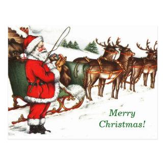 Imagen Santa del vintage y postal del navidad del
