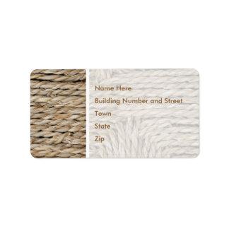 Imagen tejida rústica del modelo etiquetas de dirección