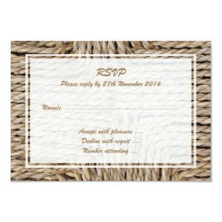 Imagen tejida rústica del modelo invitación 8,9 x 12,7 cm
