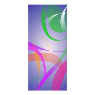 Imagen verde del extracto de la flor tarjeta publicitaria