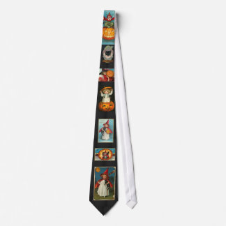 Imágenes de Halloween del vintage en un lazo Corbatas Personalizadas