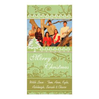 Imágenes de la familia del día de fiesta del tarjeta fotográfica