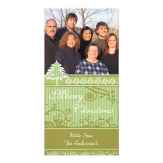 Imágenes de la familia del día de fiesta del tarjeta fotográfica personalizada