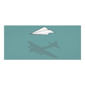 Imaginación activa del aeroplano de papel tarjetas publicitarias personalizadas