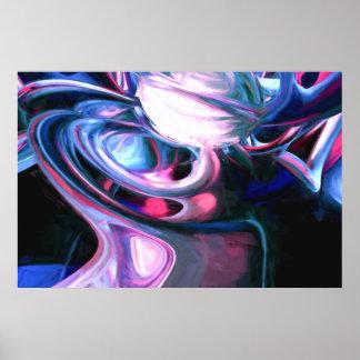 Imaginación de disolución pintada abstracta póster