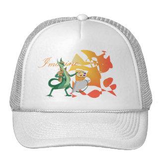 """""""Imagínese"""" al pintor del dragón Gorros Bordados"""