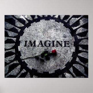 Imagínese el monumento póster