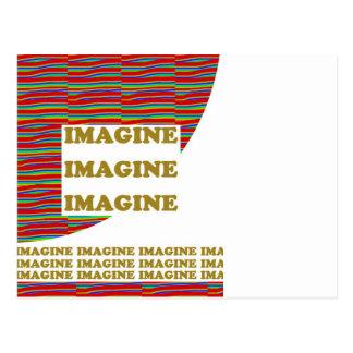 IMAGÍNESE: Inspiración de la motivación de la sabi Tarjetas Postales