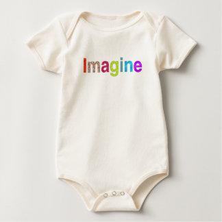 Imagínese la camiseta colorida de la inspiración