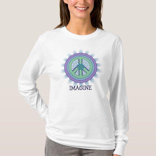 Imagínese la camiseta de Lotus de la paz