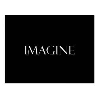 Imagínese la cita inspirada de la imaginación de postal