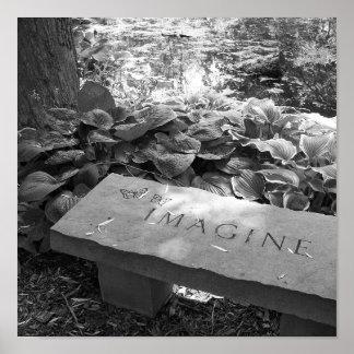 """""""Imagínese"""" la impresión de la bella arte Posters"""