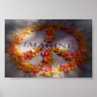 Imagínese la paz póster