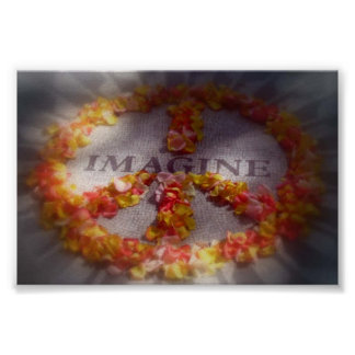 Imagínese la paz impresiones