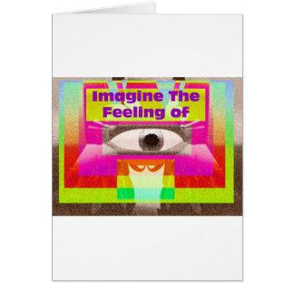 Imagínese la sensación tarjeta de felicitación